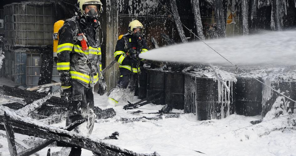 Požár ve výkupu nebezpečných surovin